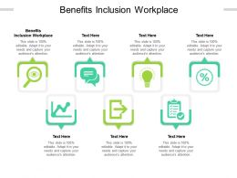 Benefits Inclusion Workplace Ppt Powerpoint Presentation Pictures Ideas Cpb