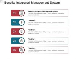 Benefits Integrated Management System Ppt Powerpoint Presentation Inspiration Cpb