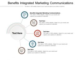 Benefits Integrated Marketing Communications Ppt Powerpoint Presentation Show Slides Cpb