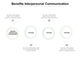 Benefits Interpersonal Communication Ppt Powerpoint Presentation Samples Cpb