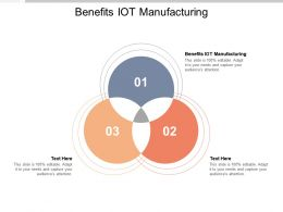 Benefits IOT Manufacturing Ppt Powerpoint Presentation Professional Outfit Cpb