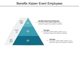 Benefits Kaizen Event Employees Ppt Powerpoint Presentation Professional Cpb