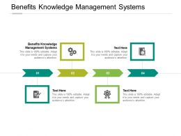 Benefits Knowledge Management Systems Ppt Powerpoint Presentation Styles Cpb