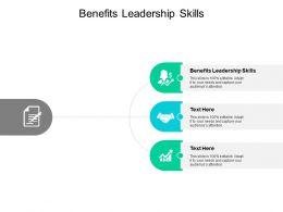Benefits Leadership Skills Ppt Powerpoint Presentation Portfolio Cpb