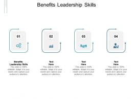 Benefits Leadership Skills Ppt Powerpoint Presentation Professional Graphics Cpb