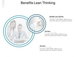 Benefits Lean Thinking Ppt Powerpoint Presentation Outline Show Cpb