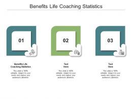 Benefits Life Coaching Statistics Ppt Powerpoint Presentation Layouts Layout Ideas Cpb