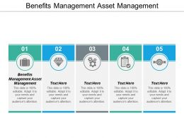 Benefits Management Asset Management Ppt Powerpoint Presentation Outline Picture Cpb