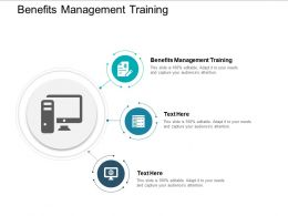 Benefits Management Training Ppt Powerpoint Presentation Inspiration Tips Cpb