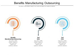 Benefits Manufacturing Outsourcing Ppt Powerpoint Presentation Show Introduction Cpb