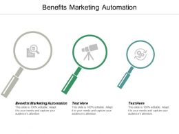 Benefits Marketing Automation Ppt Powerpoint Presentation Icon Layout Ideas Cpb