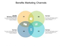 Benefits Marketing Channels Ppt Powerpoint Presentation Slides Model Cpb
