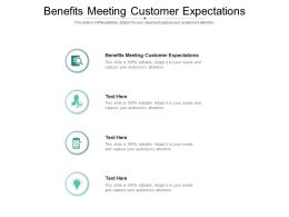 Benefits Meeting Customer Expectations Ppt Powerpoint Presentation Outline Icons Cpb