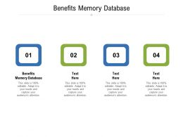 Benefits Memory Database Ppt Powerpoint Presentation Layouts Master Slide Cpb