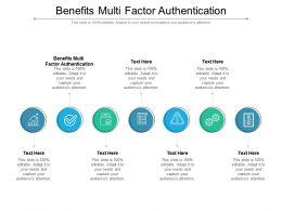 Benefits Multi Factor Authentication Ppt Powerpoint Presentation Diagram Templates Cpb