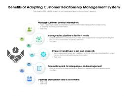 Benefits Of Adopting Customer Relationship Management System