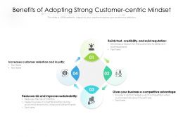 Benefits Of Adopting Strong Customer Centric Mindset