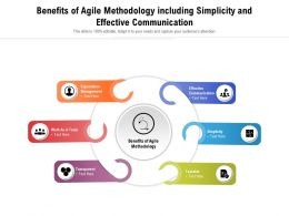 Benefits Of Agile Methodology Including Simplicity And Effective Communication