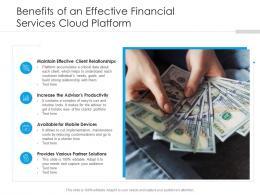Benefits Of An Effective Financial Services Cloud Platform