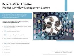 Benefits Of An Effective Project Workflow Management System