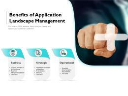 Benefits Of Application Landscape Management