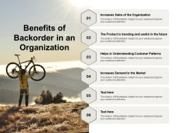 Benefits Of Backorder In An Organization