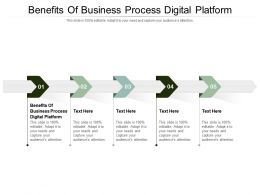Benefits Of Business Process Digital Platform Ppt Powerpoint Presentation Layouts Shapes Cpb