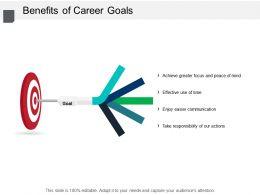 Benefits Of Career Goals