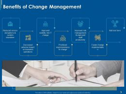 Benefits Of Change Management Ppt Powerpoint Presentation Gallery Rules