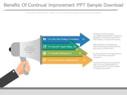Benefits Of Continual Improvement Ppt Sample Download