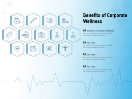 Benefits Of Corporate Wellness Ppt Powerpoint Presentation Model Slide Portrait