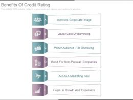 Benefits Of Credit Rating Sample Ppt Examples Slides