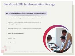 Benefits Of CRM Implementation Strategy Increase Ppt File Slides