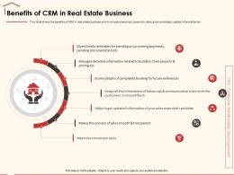 Benefits Of CRM In Real Estate Business One Platform Ppt Powerpoint Presentation Diagram Ppt
