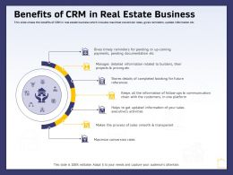 Benefits Of CRM In Real Estate Business Ppt Powerpoint Presentation Infographic