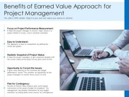 Benefits Of Earned Value Approach For Project Management