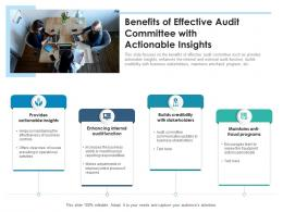 Benefits Of Effective Audit Committee With Actionable Insights