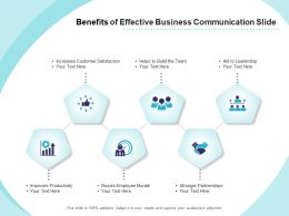 Benefits Of Effective Business Communication Slide