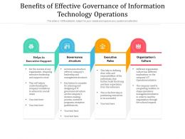 Benefits Of Effective Governance Of Information Technology Operations