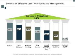Benefits Of Effective Lean Techniques And Management Flow Distance Ppt Slides