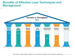 Benefits Of Effective Lean Techniques And Management Ppt Powerpoint Presentation Tips