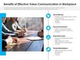 Benefits Of Effective Value Communication In Workplace