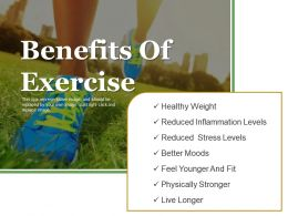 Benefits Of Exercise Powerpoint Templates