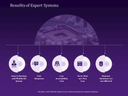 Benefits Of Expert Systems Fast Ppt Powerpoint Presentation Icon Elements