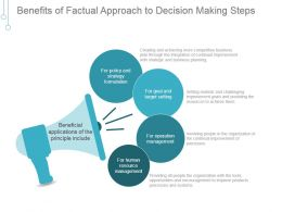 Benefits Of Factual Approach To Decision Making Steps Good Ppt Example
