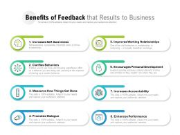 Benefits Of Feedback That Results To Business