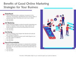 Benefits Of Good Online Marketing Strategies For Your Business