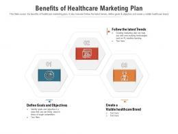 Benefits Of Healthcare Marketing Plan