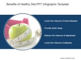 Benefits Of Healthy Diet Ppt Infographic Template