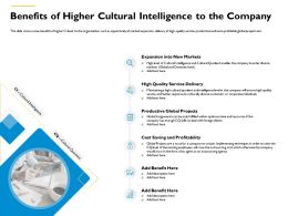 Benefits Of Higher Cultural Intelligence To The Company M548 Ppt Powerpoint Presentation File Layouts